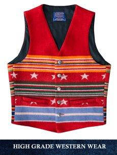 画像3: ペンドルトン ヴァージンウール グレイトフルネイション ウエスタン ベスト/Pendleton Western Wool Vest(Grateful Nation) (3)