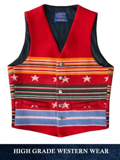 画像1: ペンドルトン ヴァージンウール グレイトフルネイション ウエスタン ベスト/Pendleton Western Wool Vest(Grateful Nation)