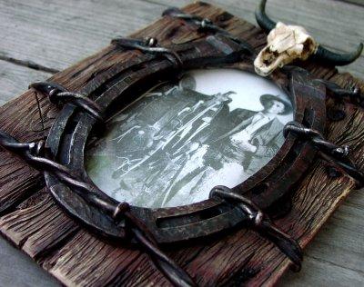 画像3: ウエスタン・ホースシュー&スカルフォトフレーム(写真立て)/Horseshoe Skull Photo Frame