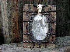 画像2: ウエスタン・ホースシュー&スカルフォトフレーム(写真立て)/Horseshoe Skull Photo Frame (2)