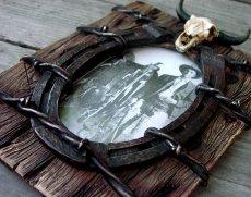 画像4: ウエスタン・ホースシュー&スカルフォトフレーム(写真立て)/Horseshoe Skull Photo Frame (4)