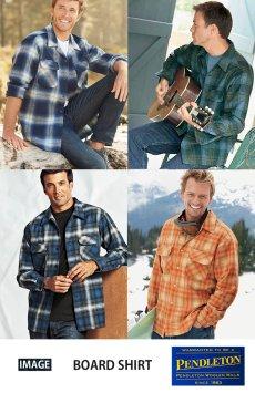 画像5: ペンドルトン ウールシャツ ボードシャツ ブループラッド/Pendleton Board Shirt (5)