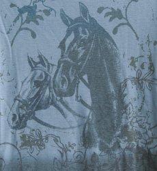 画像2: ローパー レディース ウエスタン Tシャツ ホース ブルー(長袖)/Roper Women's Western T-shirt(Blue) (2)