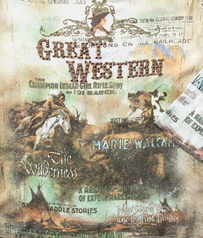 画像3: グレイト ウエスタン  レディース ウエスタン TシャツS/Women's Western T-shirt(Light Blue)