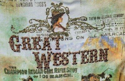画像2: グレイト ウエスタン  レディース ウエスタン TシャツS/Women's Western T-shirt(Light Blue)