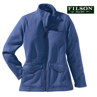 画像1: フィルソン レディース モールスキン フリース ジャケット(ブルーインディゴ)XS/Filson Moleskin Fleece Jacket Blue Indigo(Women's)