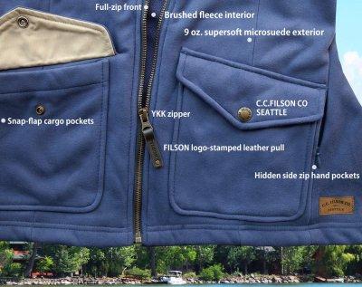 画像2: フィルソン レディース モールスキン フリース ジャケット(ブルーインディゴ)XS/Filson Moleskin Fleece Jacket Blue Indigo(Women's)