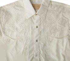 画像4: スカリー スナップフロント 刺繍 ウエスタン シャツ(長袖/ブラック・フロント&バック刺繍)/Scully Long Sleeve Embroidered Snap Front Shirt(Men's) (4)