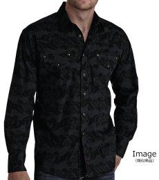 画像5: パンハンドルスリム ウエスタンシャツ ブラック(長袖)/Panhandle Slim Long Sleeve Western Shirt (5)