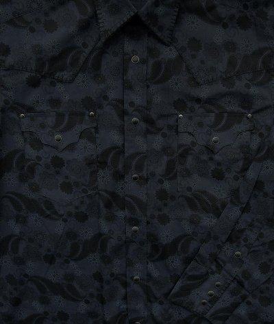 画像2: パンハンドルスリム ウエスタンシャツ ブラック(長袖)/Panhandle Slim Long Sleeve Western Shirt