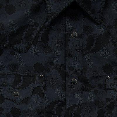 画像3: パンハンドルスリム ウエスタンシャツ ブラック(長袖)/Panhandle Slim Long Sleeve Western Shirt