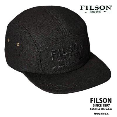 画像1: フィルソン 5パネル キャップ(ブラック)/Filson 5-Panel Cap(Black)