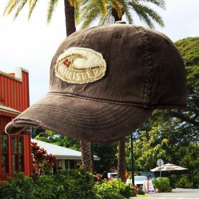 画像1: ホリスター ヴィンテージ ウォッシュ 刺繍 ロゴ キャップ(ブラウン)/Hollister Cap(Brown)