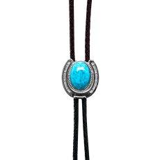 画像2: ウエスタン ボロタイ ホースシュー・ターコイズ/Western Bolo Tie(Horseshoe/Turquoise) (2)
