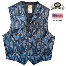 画像3: ワーメーカー オールドウエスト ベスト(ブルー ペイズリーフェザー)/Wah Maker Old West Vest (Blue Paisley Feather) (3)