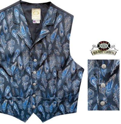 画像2: ワーメーカー オールドウエスト ベスト(ブルー ペイズリーフェザー)/Wah Maker Old West Vest (Blue Paisley Feather)