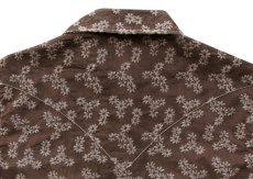 画像3: ライアン マイケル フローラル刺繍 ウエスタン シャツ(ブラウン・長袖)XS/Ryan Michael Long Sleeve Western Shirt(Women's)  (3)