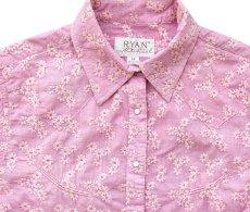 画像2: ライアン マイケル フローラル刺繍 ウエスタン シャツ(ピンク・長袖)/Ryan Michael Long Sleeve Western Shirt(Women's)  (2)