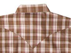 画像3: ライアン マイケル シルクブレンド ウエスタン シャツ(ブラウン/ピンク・長袖)S/Ryan Michael Long Sleeve Western Shirt(Women's) (3)