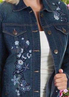 画像2: スカリー フローラル刺繍 デニムジャケット(デニム)/Scully Embroidery Classic Denim Jacket(Women's) (2)