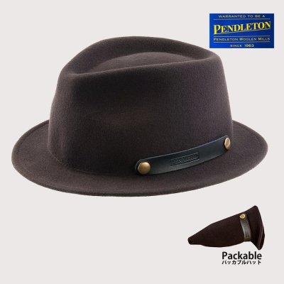 画像2: ペンドルトン ロールアップ スティンジーブリム ハット(ビーバーブラウン)/Pendleton Roll-up Stingy Brim Hat