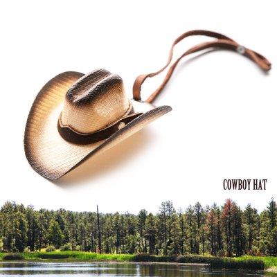 画像1: カウボーイ ストロー ハット ストラップ・バッグアクセサリー/Cowboy Hat Strap