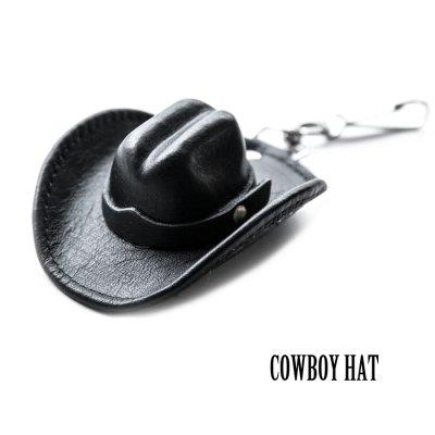 画像1: カウボーイ ハット キーホルダー・バッグアクセサリー(ブラック)/Cowboy Hat Key Holder