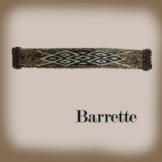 画像1: ホースヘアー バレッタ(ブラウン)/Barrette (1)
