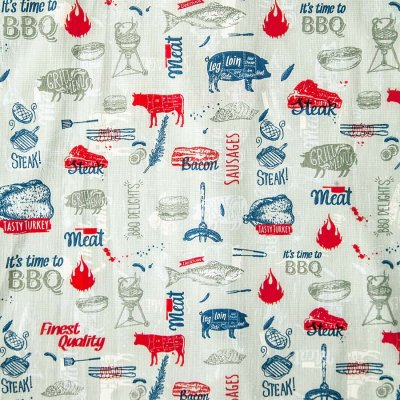 画像2: コールマン バーベキュー 半袖 シャツ(レッド・ホワイト・ブルー)/Coleman BBQ Print Short Sleeve Shirt