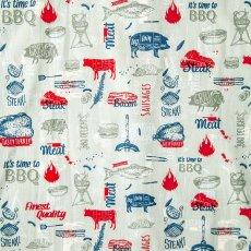 画像3: コールマン バーベキュー 半袖 シャツ(レッド・ホワイト・ブルー)/Coleman BBQ Print Short Sleeve Shirt (3)