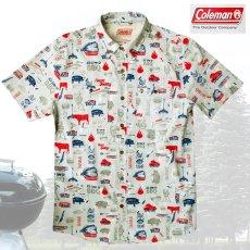 画像2: コールマン バーベキュー 半袖 シャツ(レッド・ホワイト・ブルー)/Coleman BBQ Print Short Sleeve Shirt (2)