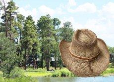 画像3: カウボーイ ストローハット(ナチュラル・ブラウン)/Western Straw Hat (3)