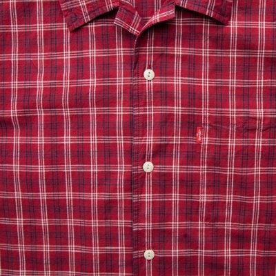 画像3: リーバイス 半袖 シャツ(レッド・ネイビー・ホワイト)/Levi's Plaid Shortsleeve Shirt