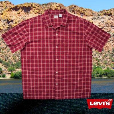 画像2: リーバイス 半袖 シャツ(レッド・ネイビー・ホワイト)/Levi's Plaid Shortsleeve Shirt