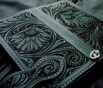 画像1: ファニー ライダース ウォレット(ハンドクラフトL)/Funny Rider's Wallet(Black)