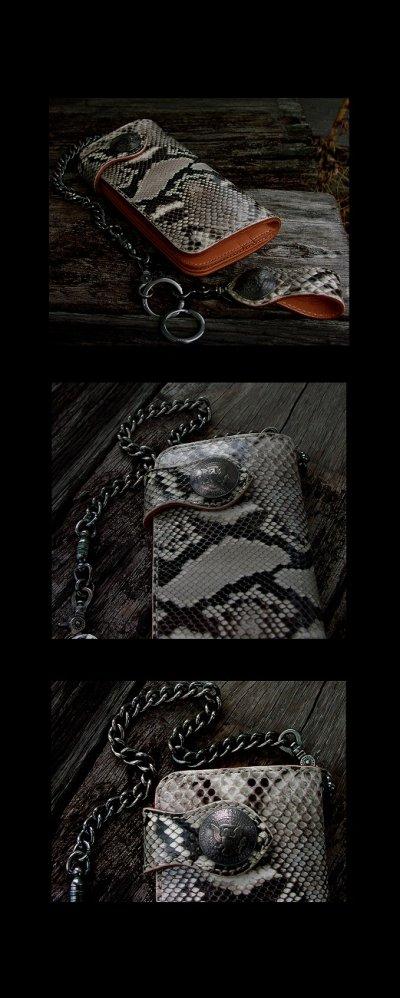 画像1: ファニー ライダース ウォレット(ダイヤモンドパイソン)/Funny Rider's Wallet(Natural)
