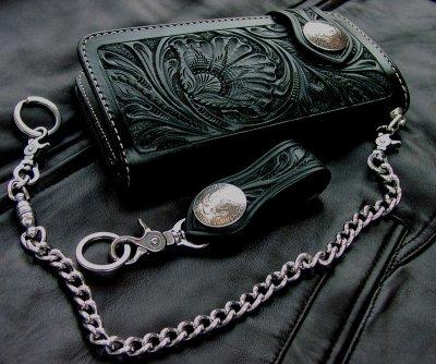 画像2: ファニー ライダース ウォレット(ハンドクラフトL)/Funny Rider's Wallet(Black)