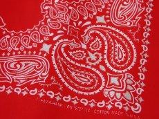 画像2: バンダナ ハバハンク HAV-A-HANK ペイズリー(レッド・ホワイト)/Bandana Paisley  Red White (2)