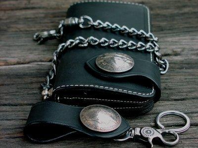 画像3: ファニー ライダースウォレット(ブラック)/Funny Rider's Wallet 1$Morgan(Black)