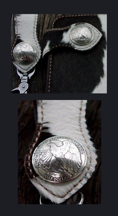 画像1: イーグル・50¢リバティウォーキングコインコンチョ(リバース)/50Cent LIBERTY WALKING COIN CONCHO(Reverse/Eagle)・31mm