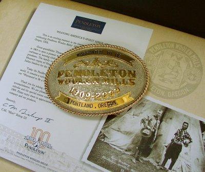 画像1: ペンドルトン バックル ハンドメイド リミテッドエディション(100周年記念限定)/Pendleton Limited Edition Belt Buckle