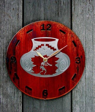 画像1: ココペリ メタルウォールクロック(壁掛け時計)/Kokopelli Metal  Art Wall Clock