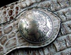 画像2: 1$モーガンフェイスコインコンチョ/1$MORGAN FACE COIN CONCHO・37mm (2)