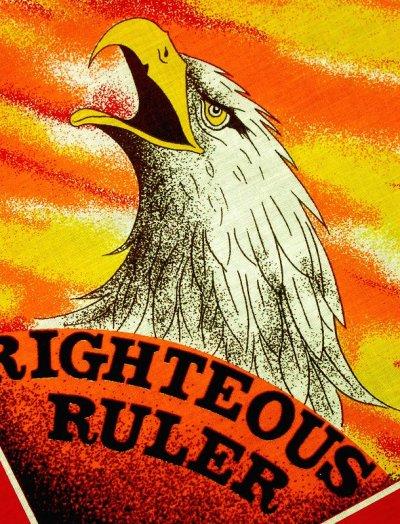 画像3: ハーレーダビッドソン バンダナ(レッド・RIGHTEOUS RULER)/Harley Davidson Bandana