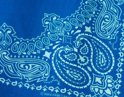画像2: バンダナ ハバハンク HAV-A-HANK ペイズリー(ブルー・ホワイト)/Bandana Paisley  Blue White