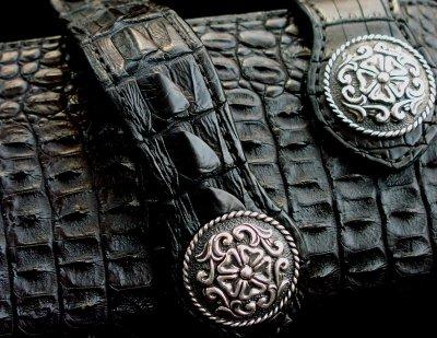 画像2: ファニー ライダースウォレット(ホーンバックナイルクロコダイル・ブラック/VICTOR37MM・SE-1)/Funny Rider's Wallet(Horn Back Nile Crocodile・Black)