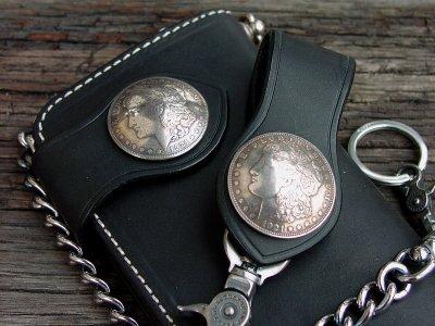画像2: ファニー ライダースウォレット(ブラック)/Funny Rider's Wallet 1$Morgan(Black)