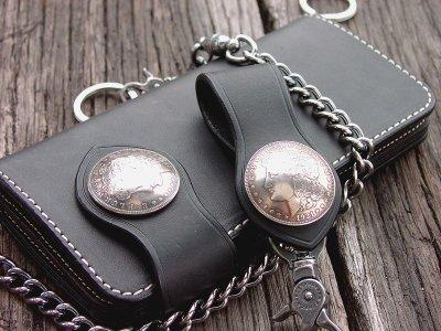 画像1: ファニー ライダースウォレット(ブラック)/Funny Rider's Wallet 1$Morgan(Black)