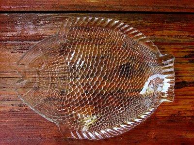 画像1: フィッシュ ガラス皿/Fish Glass Plate