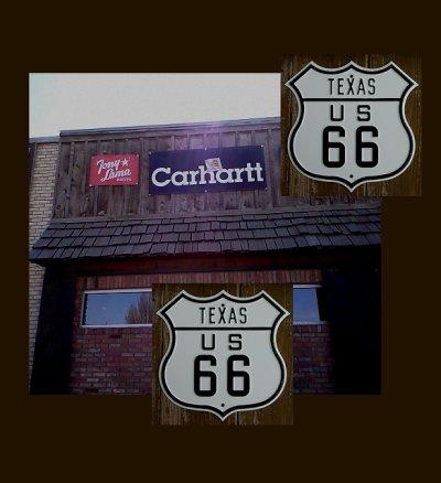 画像1: テキサスUS66ストリートサインとUSAハーレーダビッドソンバンダナ6枚セット/TEXAS US66 Metal Sign+6Harley Davidson Bandanas